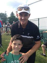 young golf fan has a chance meeting with u.s. open champion
