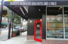 buddy's burgers, breast and fries opens thursday